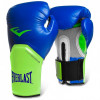 Luva Boxe Everlast pro Style Elite Training 14 Oz Azul com Verde