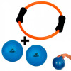 Arco Alaranjado Anel Flexível + 2 Bolas Over Ball 20 Cm Azul