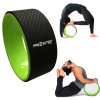 Flow Wheel Roda de Pilates Macig Circle Verde com Preto Proaction